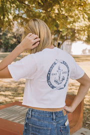 Pompeii Anchor Crop Short Sleeve Tee