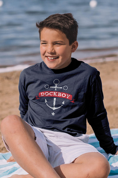 Dockboy Youth Anchor Long Sleeve Tee