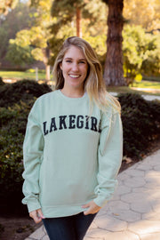 Fleece Lakegirl Mint Crew Sweatshirt