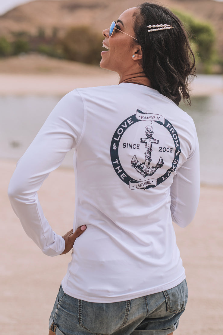 White Long Sleeve Rash Guard