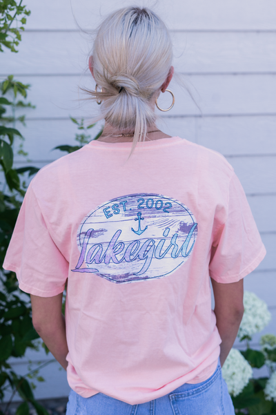 Shell Pink Watercolor Ringspun Tee