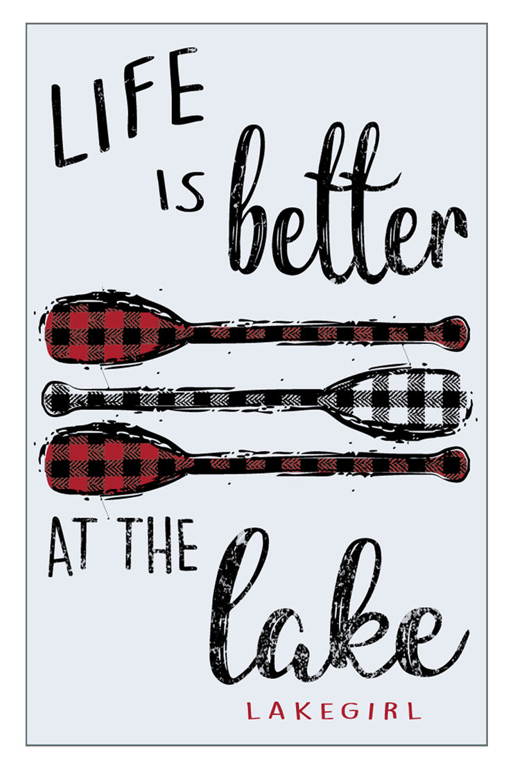 Buffalo Plaid Paddles Sign
