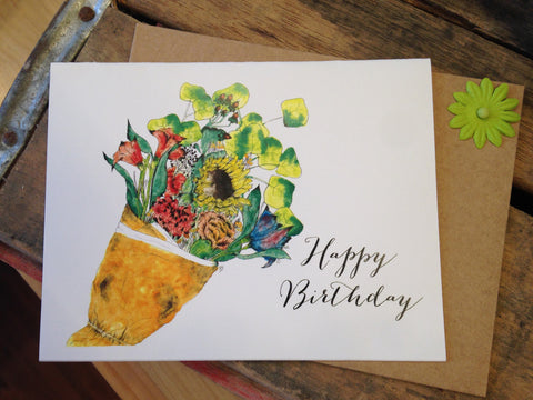 Happy Birthday Greeting Card By Brittany Flurry