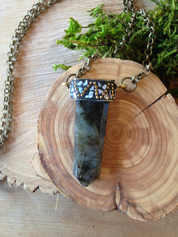 Labradorite Necklace by Dumb Luck Designs