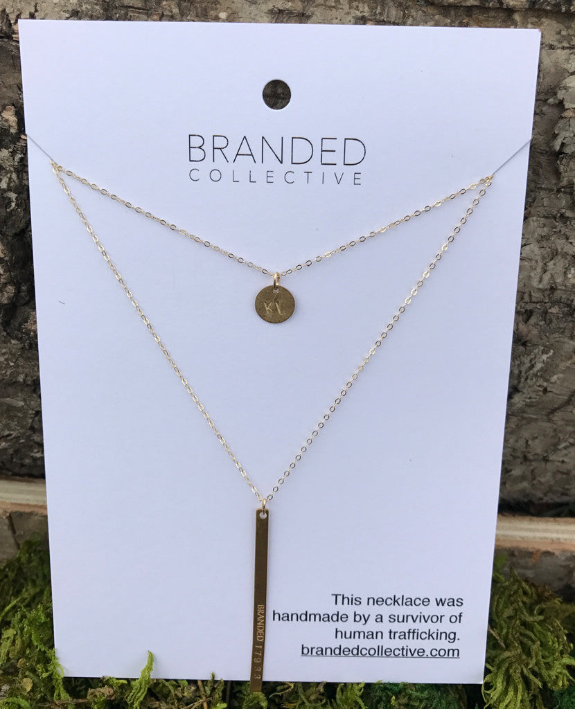 Branded Collective Brass Necklace