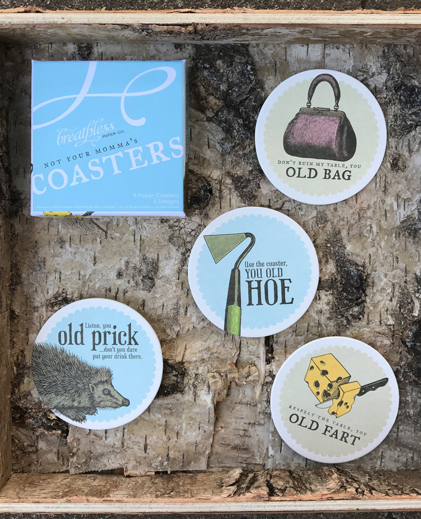 Not Your Momma's Coasters By Breathless Paper Co.