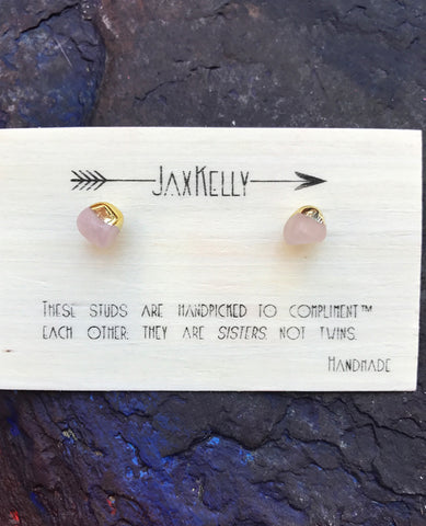 Rose Quartz Earrings By JaxKelly