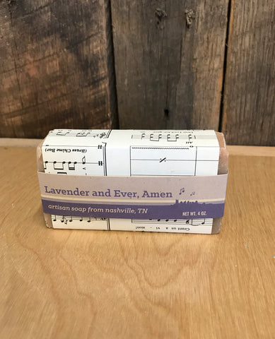 Lavender And Ever, Amen Soap By Music City Suds