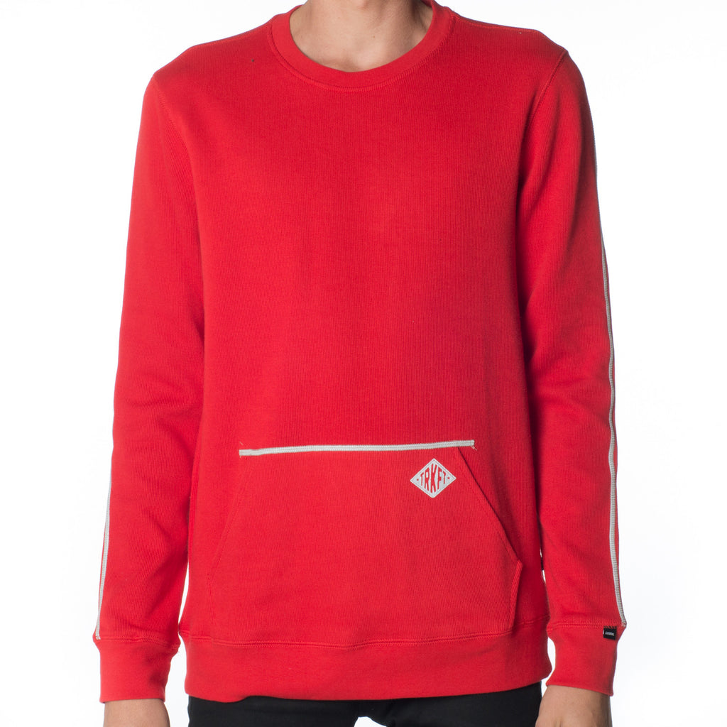 FRENCH RIB REFLECTIVE CREWNECK