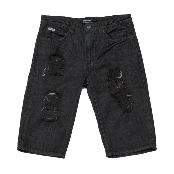 TRUKFIT -  DESTROYED DENIM SHORT