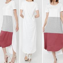 Load image into Gallery viewer, New Stylish Color Block High Low Maxi - Fabulously Dressed Boutique