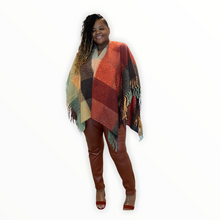 Load image into Gallery viewer, The Eve Orange Cape/Poncho - Orange / One Size - Sweaters