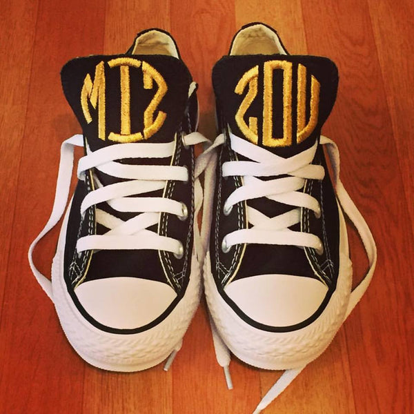 Customized Converse Sneakers-MIZZOU Edition (adult)-Circle