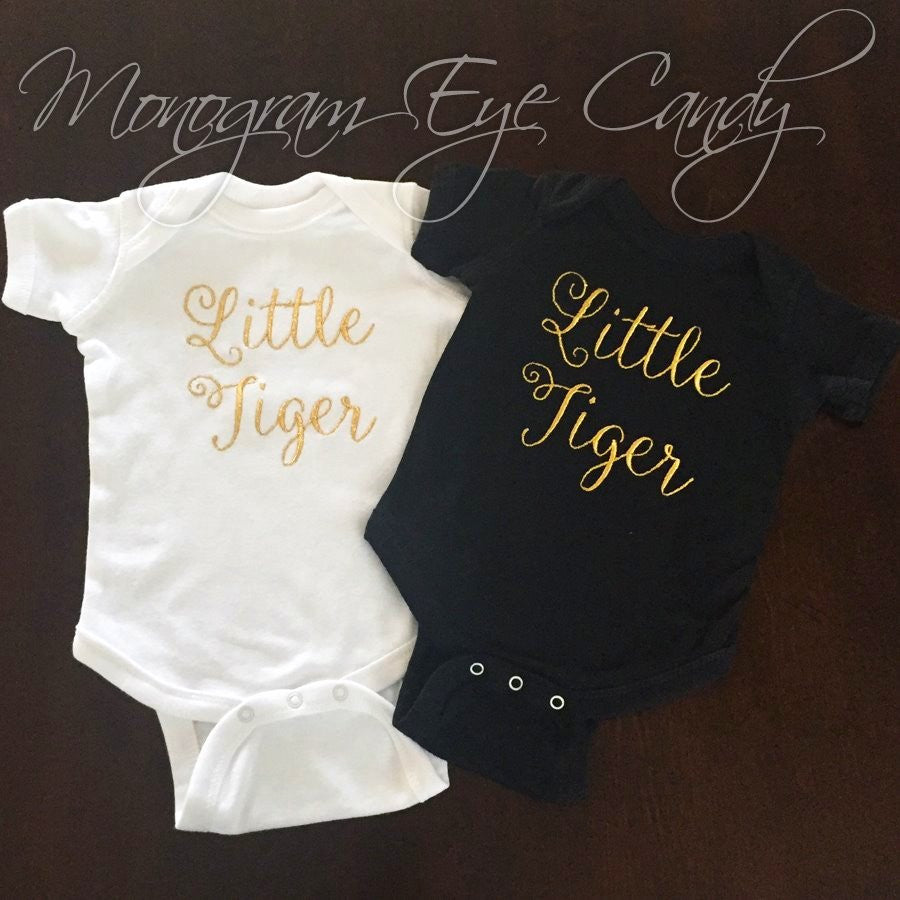 Little Tiger Script- Onesie or Tee