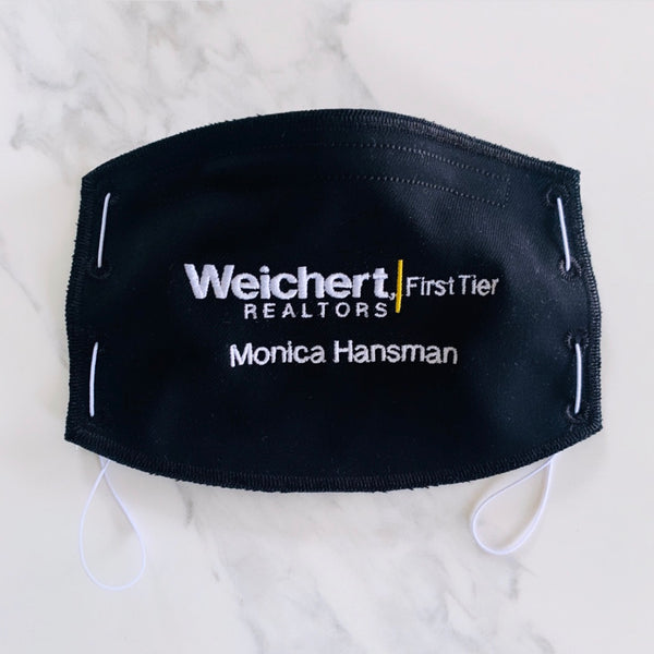 Adult Face Mask- Black- Weichert Realtors