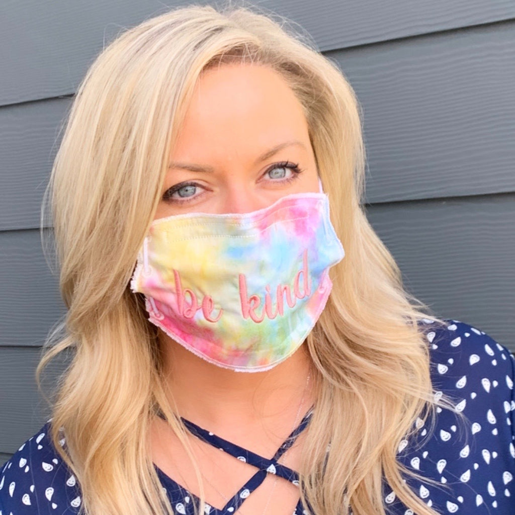 Adult Face Mask-Be Kind-Tie-Dye