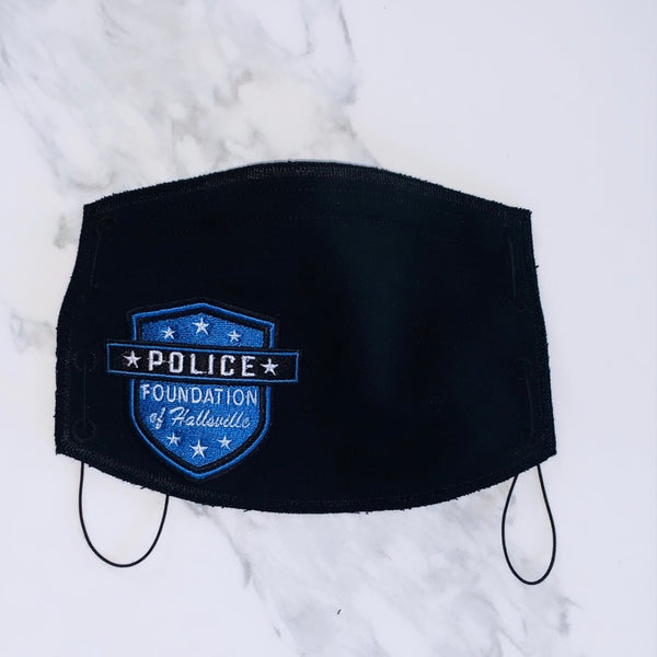 Adult Face Mask- Black- Hallsville Police
