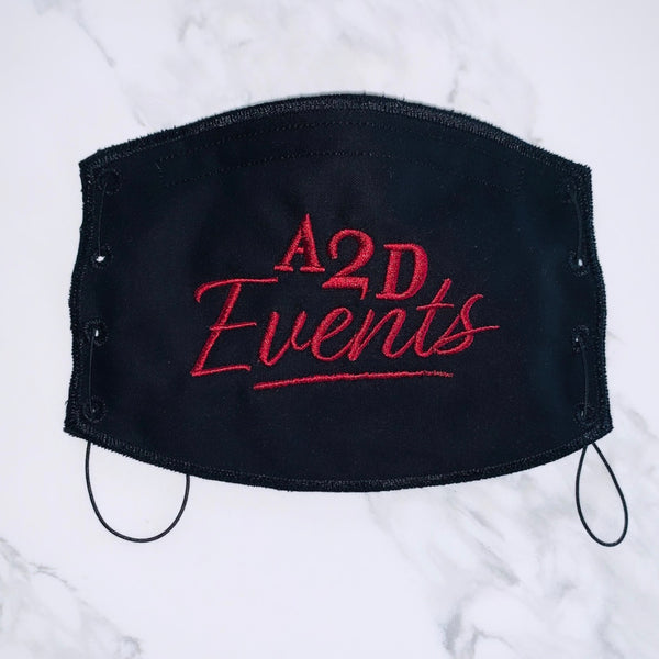 Adult Face Mask- Black- A2D Events