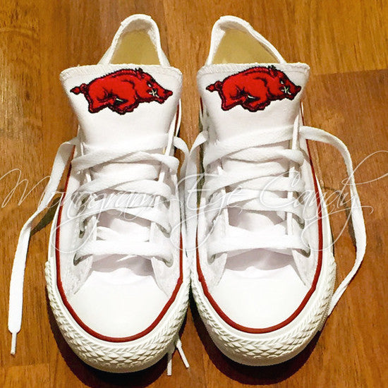 Customized Converse Sneakers- Razorback Edition
