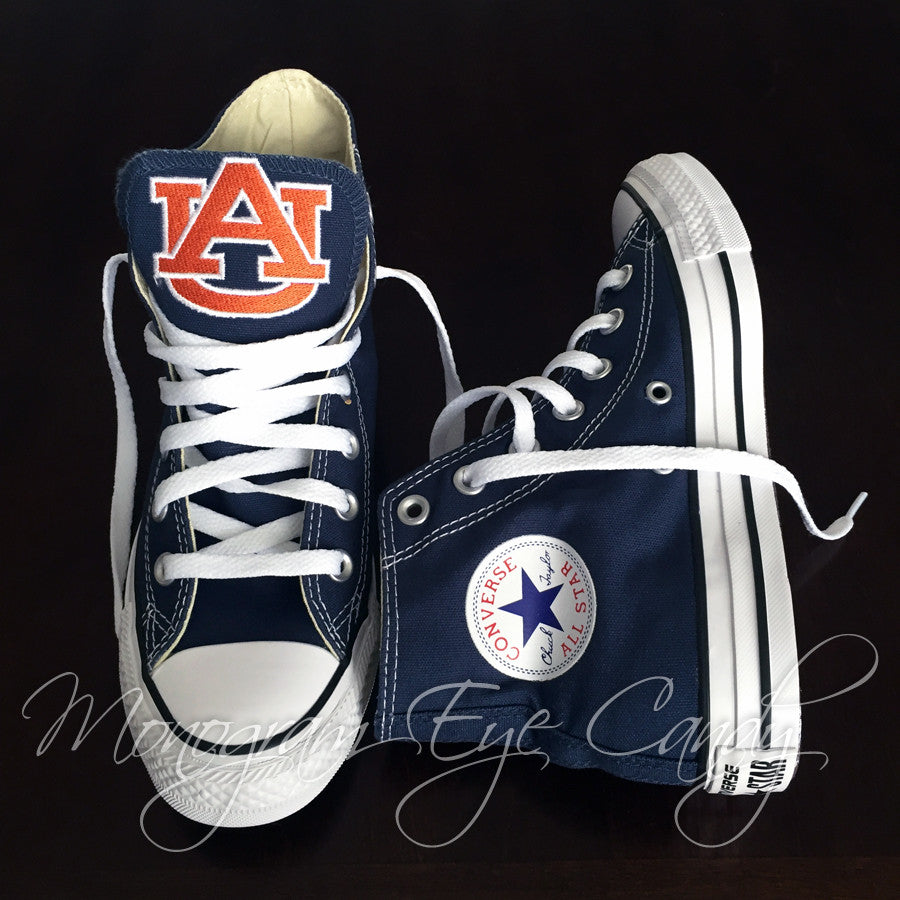 Customized Converse Sneakers- Auburn Edition