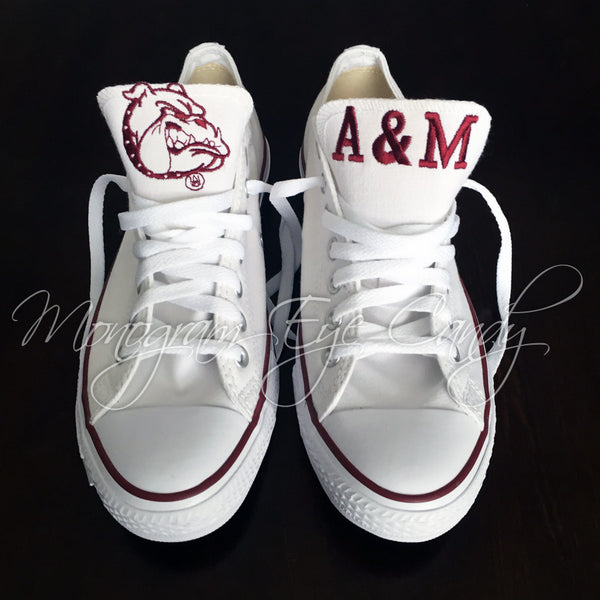 Customized Converse Sneakers- Alabama A&M Edition-Bulldogs