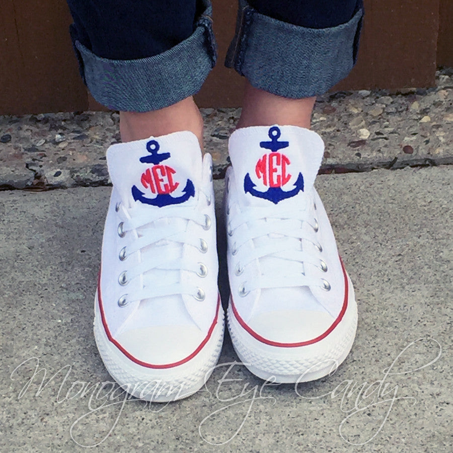 Monogram Converse Sneakers- Split Anchor