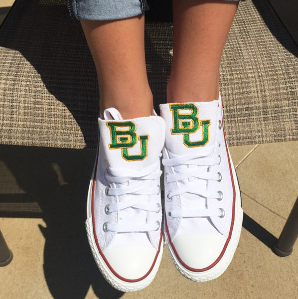 Customized Converse Sneakers- Baylor Edition