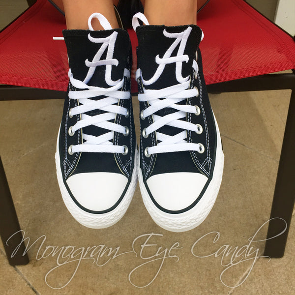 Customized Converse Sneakers- Bama Edition (Black)