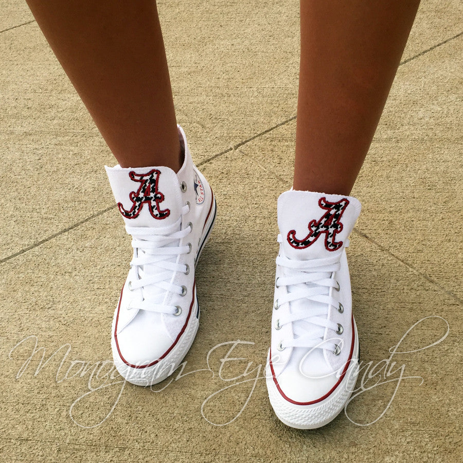 Customized Converse Sneakers- Bama Edition (Houndstooth A)