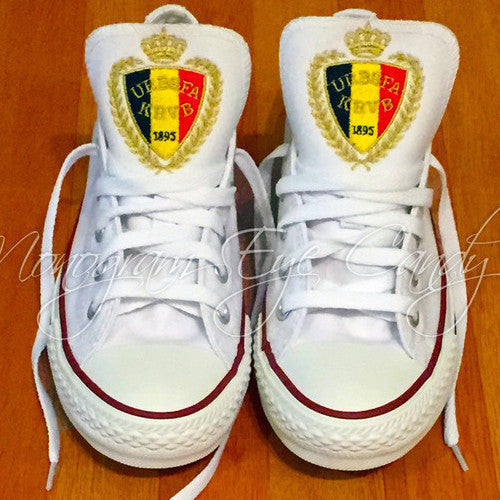 Customized Converse Sneakers-Belgium Edition
