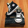 Monogram Toddler Converse Sneakers-Black