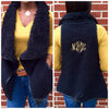 Monogram Fur Vest-Black