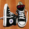 Monogram Converse Sneakers- Black (Youth)