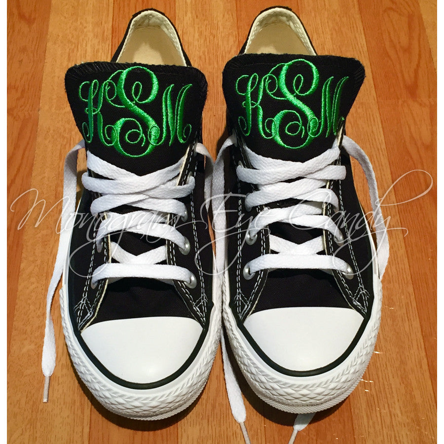 Monogram Converse Sneakers- Black – Monogram Eye Candy e059598f5