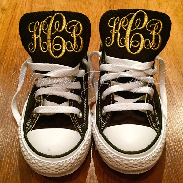 Monogram Converse Sneakers-Black