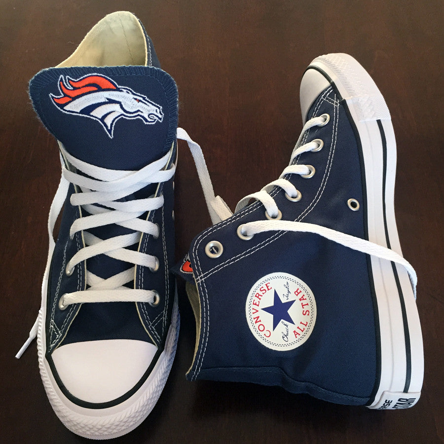 Customized Converse Sneakers- Denver Broncos Edition