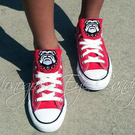 Customized Converse Sneakers- Bulldogs Edition