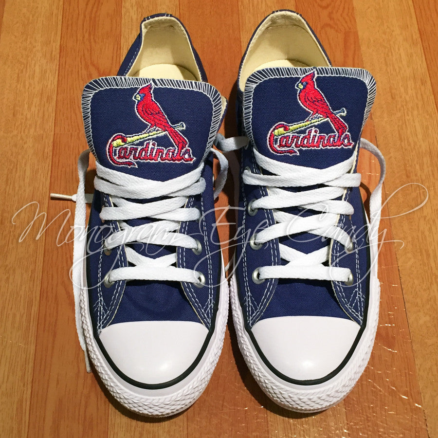 Cardinal Converse Stl Edition Sneakers Customized E9D2IH