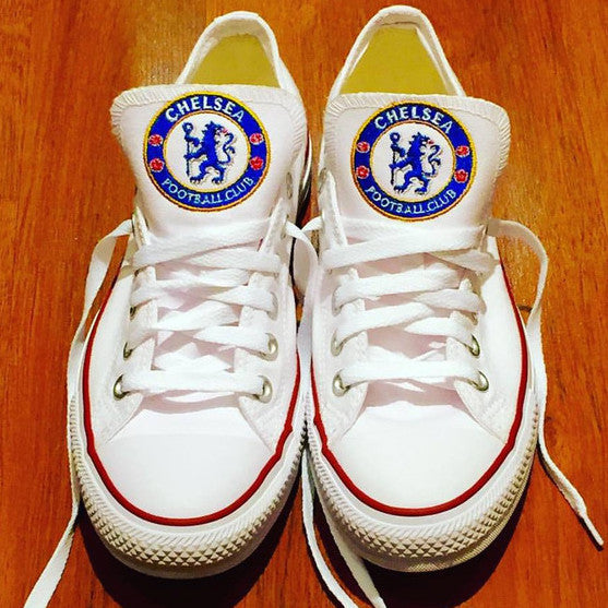 Customized Converse Sneakers-Chelsea FC Edition