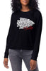 KC Chiefs Crewneck- Black Leopard
