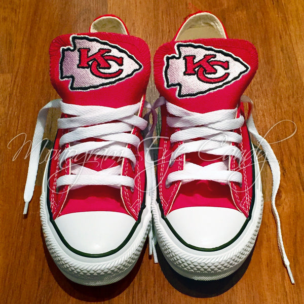 Customized Converse Sneakers- KC Chiefs Edition