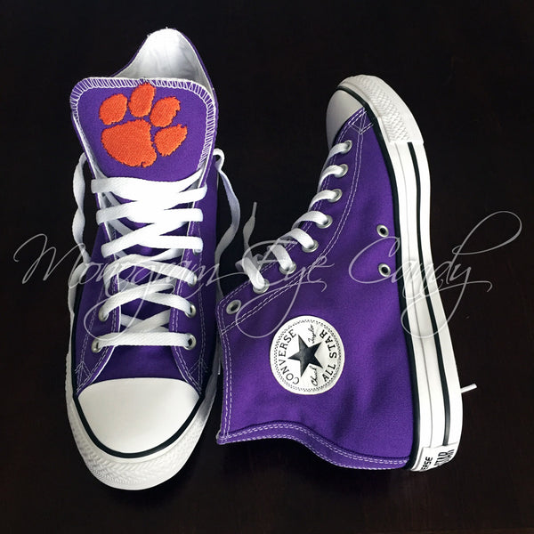 Customized Converse Sneakers- Clemson Edition
