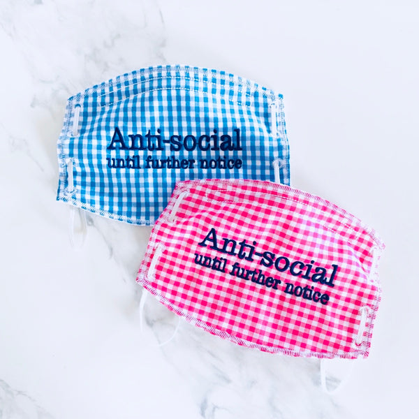 Adult Face Mask-Anti-Social