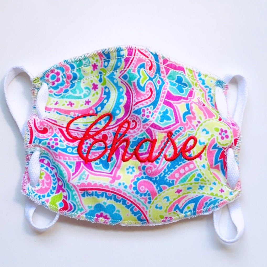 Monogram-Face Mask-Spring Paisley