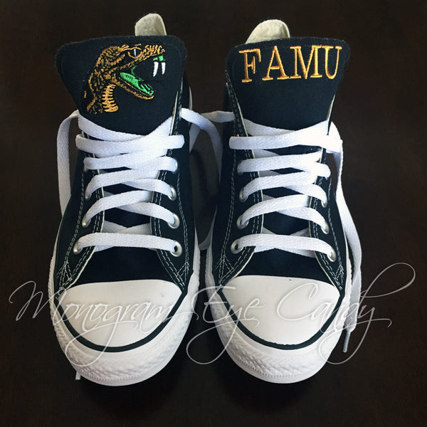 Customized Converse Sneakers- FAMU Edition