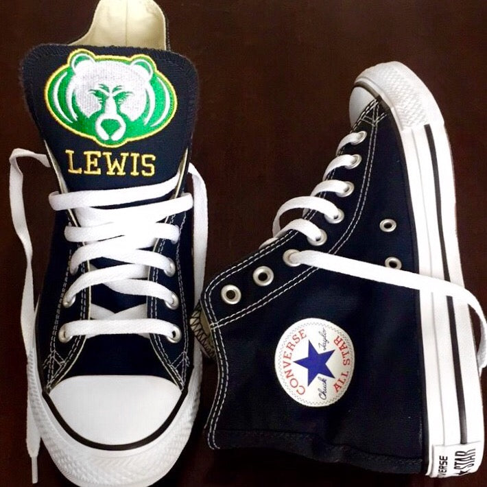 Customized Converse Sneakers- Rock Bridge Bruin Edition