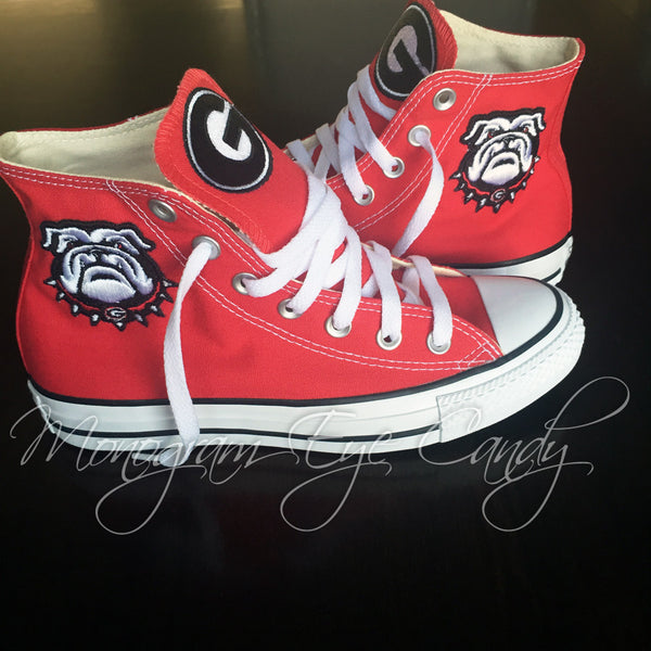 6c72d7be4 Customized Converse Sneakers- Georgia Bulldogs (Special Edition)