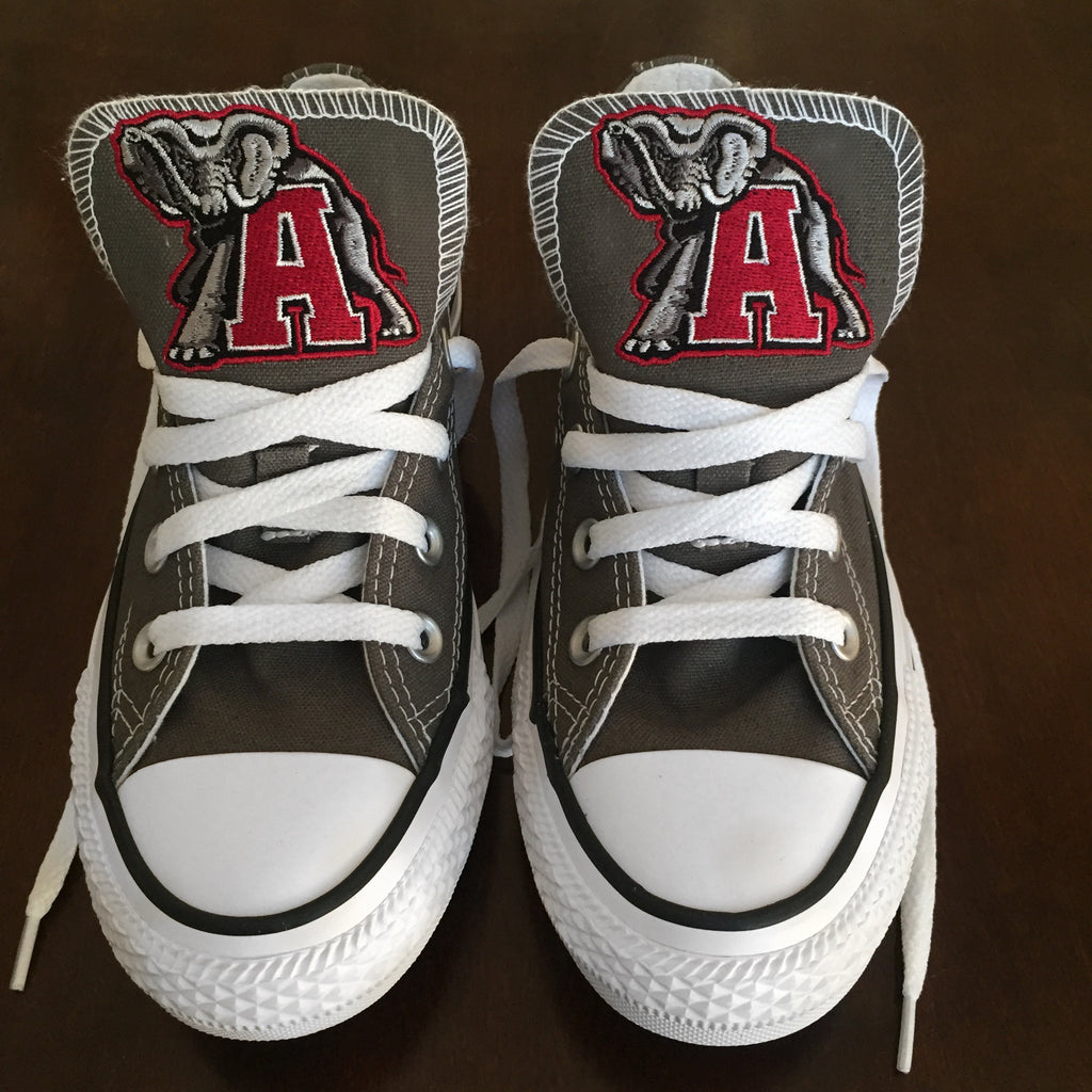 Customized Converse Sneakers- Bama Edition (Elephant and A)