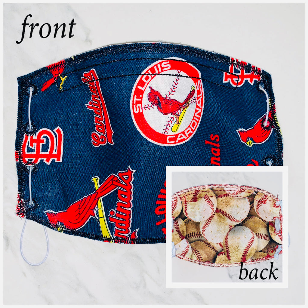 St Louis Cardinals Face Mask- Navy Blue