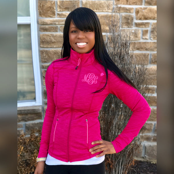Monogrammed Active Jacket-Hot Pink